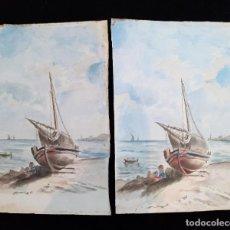 Arte: ANTIGUAS PINTURAS ESPAÑOLAS A ACUARELA SIGLO XIX ~ OLD SPANISH WATERCOLOR PAINTINGS 19TH C. Lote 26146781