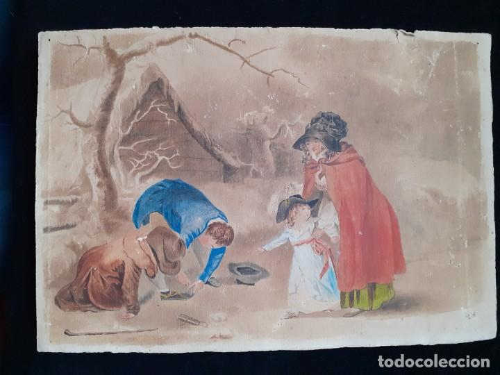 Arte: Old Watercolor Spanish Painting 19thC in excellent condition - Foto 2 - 26250148