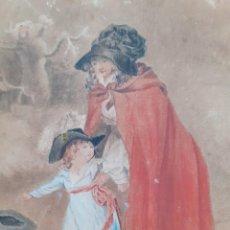 Arte: ANTIGUA PINTURA A ACUARELA. S. XIX. FIRMADA ~ ANTIQUE WATERCOLOR PAINTING. 19TH C. SIGNED. Lote 26250148