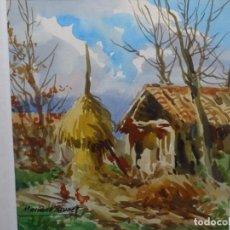 Arte: ACUARELA DE MARIANO BRUNET.. Lote 223148823