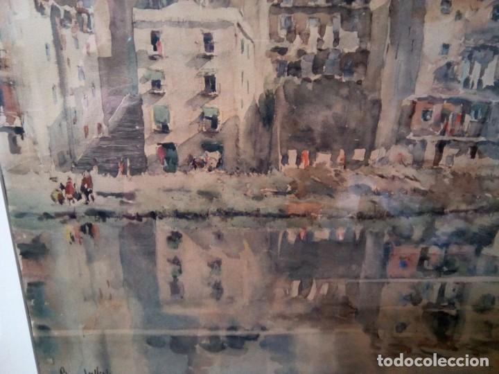 Arte: ** ROCA DELPECH.ACUARELA DE GIRONA 40CM X 54CM) (Rf:G/*) - Foto 6 - 223341537
