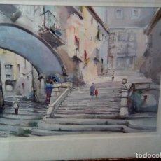 Arte: **ROCA DELPECH..ACUARELA ORIGINAL. GIRONA (RF:G/*). Lote 223572721