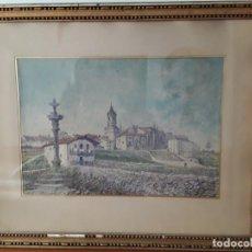 Arte: FUENTERRABÍA (GUIPUZCOA) PRECIOSA ACUARELA. PRINCIPIOS DEL XX. ARTE VASCO.. Lote 223781832