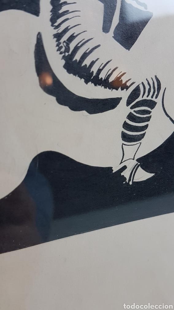 Arte: Tinta sobre papel de alto gramaje del Pintor gallego Alfonso Costa Beiro, Noia - A coruña - 1943. - Foto 3 - 223923961