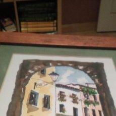 Arte: ACUARELA ENMARCADA EN MARCO CON CRISTAL DEL ALBAICIN GRANADA. Lote 224216866