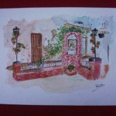 Arte: ACUARELA RINCÓN DE SAN ANTONIO MENGÍBAR. Lote 224669950