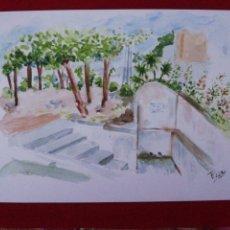 Arte: ACUARELA, FUENTE REDONDA- MENGÍBAR. Lote 224868821