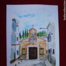 Arte: ACUARELA, ERMITA VIRGEN DE LA CABEZA - MENGÍBAR. Lote 224868980