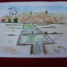 Arte: ACUARELA, FUENTE DEL PILARILLO - MENGÍBAR. Lote 224869522