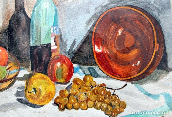 ACUARELA ORIGINAL FIRMADA - AUTOR JUST S. BASSAS - ( 1912 -2004 ) FIRMADA (Arte - Acuarelas - Contemporáneas siglo XX)