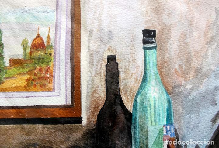 Arte: ACUARELA ORIGINAL FIRMADA - AUTOR JUST S. BASSAS - ( 1912 -2004 ) FIRMADA - Foto 4 - 225010215