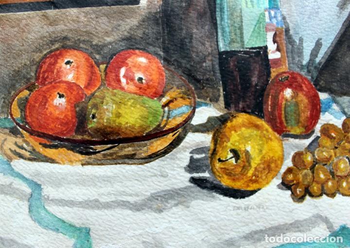 Arte: ACUARELA ORIGINAL FIRMADA - AUTOR JUST S. BASSAS - ( 1912 -2004 ) FIRMADA - Foto 5 - 225010215