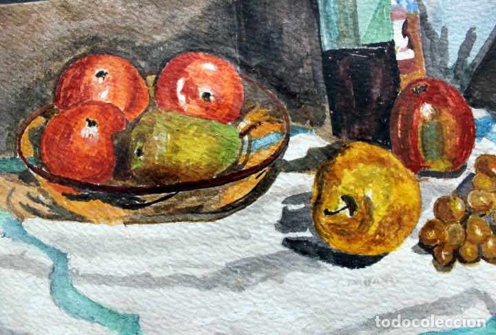 Arte: ACUARELA ORIGINAL FIRMADA - AUTOR JUST S. BASSAS - ( 1912 -2004 ) FIRMADA - Foto 6 - 225010215