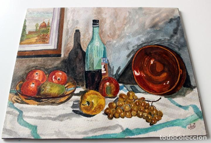 Arte: ACUARELA ORIGINAL FIRMADA - AUTOR JUST S. BASSAS - ( 1912 -2004 ) FIRMADA - Foto 7 - 225010215