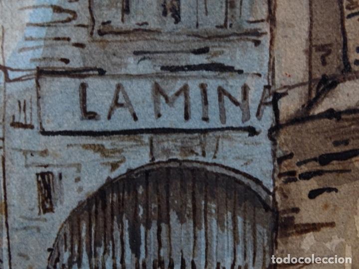 Arte: ACUARELA DE FRANCESC BUYE.CALLE DEL CID BARCELONA 1938.FONDA CAL VENTURA DE LA MINA. - Foto 10 - 225905973