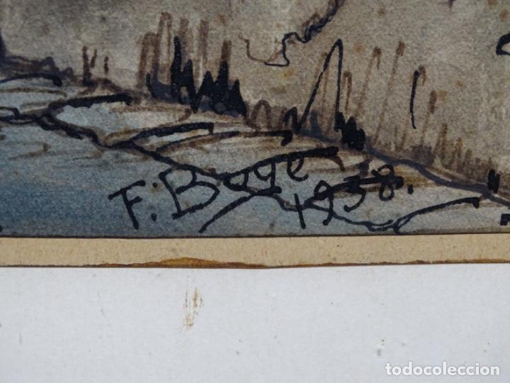 Arte: ACUARELA DE FRANCESC BUYE.CALLE DEL CID BARCELONA 1938.FONDA CAL VENTURA DE LA MINA. - Foto 14 - 225905973