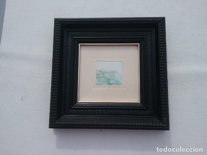 Arte: Preciosa acuarela motivo paisaje con detalle firmada con marco de calidad - Foto 2 - 226101210
