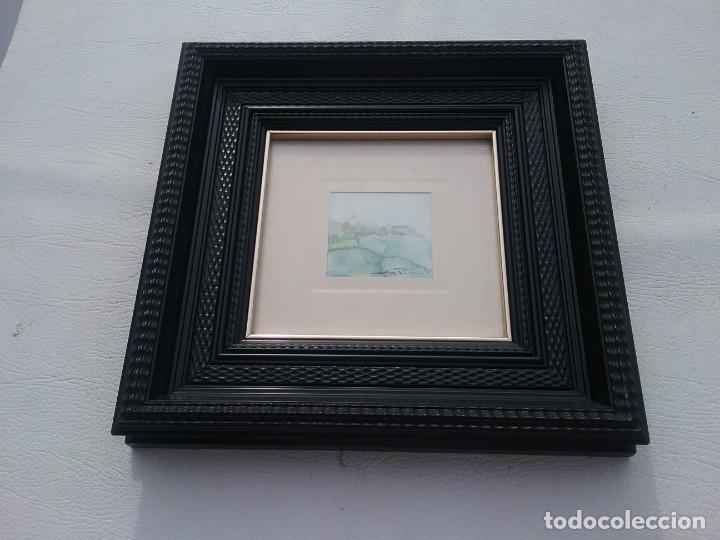 Arte: Preciosa acuarela motivo paisaje con detalle firmada con marco de calidad - Foto 3 - 226101210