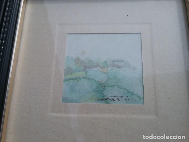 Arte: Preciosa acuarela motivo paisaje con detalle firmada con marco de calidad - Foto 4 - 226101210