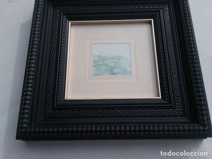Arte: Preciosa acuarela motivo paisaje con detalle firmada con marco de calidad - Foto 5 - 226101210
