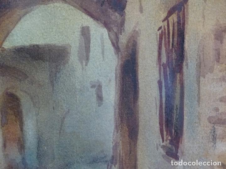 Arte: ACUARELA FIRMADA GARCIA SANT QUINTI.BUEN TRAZO. - Foto 10 - 226144140