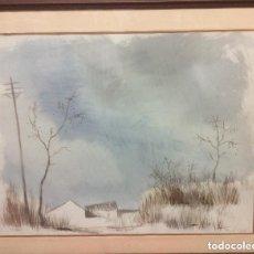 Arte: EDUARDO VICENTE (MADRID 1909-1968)ACUARELA ORIGINAL,FIRMADA. IDEAL COLECCIONISTAS. Lote 226418101