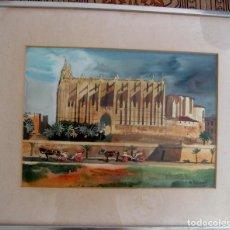 Arte: FREDERIC LLOVERAS I HERRERA (BARCELONA, 1912 - TOSSA DE MAR, 1983). CATEDRAL DE PALMA DE MALLORCA.. Lote 226450609