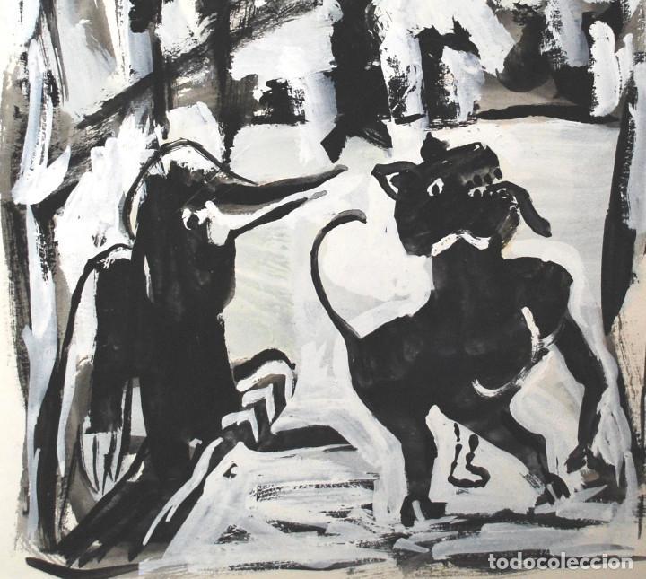 Arte: Brigitte Meyer.- Noche de Invierno (Gouache) (ver fotos adicionales) - Foto 2 - 226630820