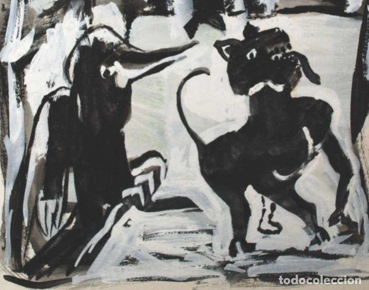 Arte: Brigitte Meyer.- Noche de Invierno (Gouache) (ver fotos adicionales) - Foto 3 - 226630820