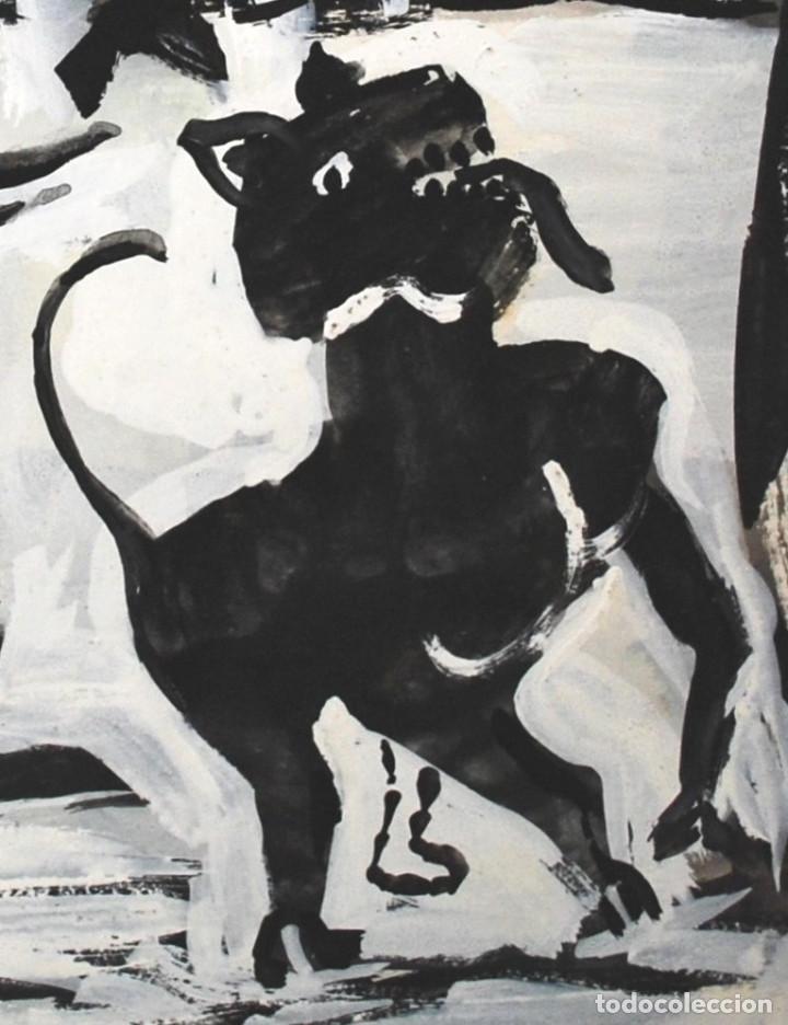Arte: Brigitte Meyer.- Noche de Invierno (Gouache) (ver fotos adicionales) - Foto 4 - 226630820