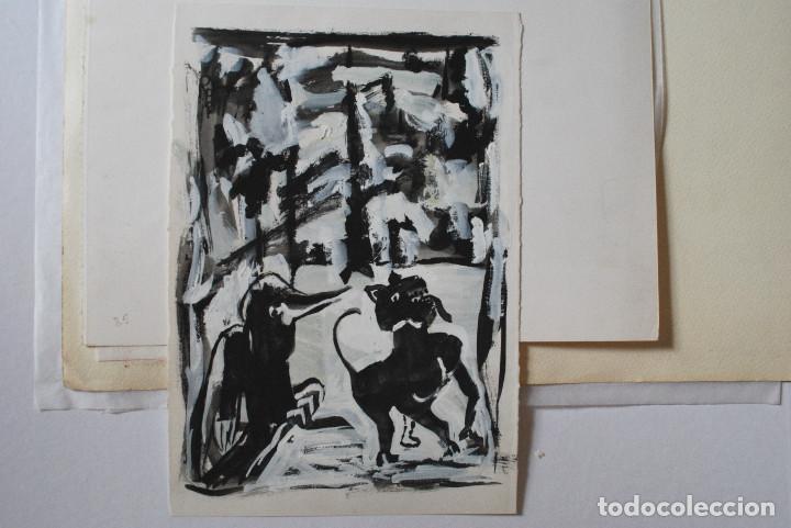 Arte: Brigitte Meyer.- Noche de Invierno (Gouache) (ver fotos adicionales) - Foto 6 - 226630820