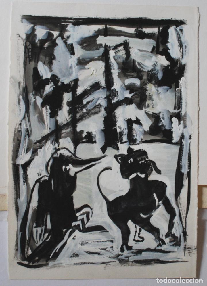 Arte: Brigitte Meyer.- Noche de Invierno (Gouache) (ver fotos adicionales) - Foto 10 - 226630820