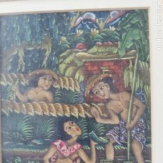 Arte: ARTE MIXTA ÉTNICA MUCHO COLORIDO.. OBRA DIFÍCIL REALIZAR POR SU CONTENIDO SIN ESPACIO LIBRES... Lote 226750095