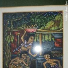 Arte: ARTE MIXTA ÉTNICA.. MUY EXPRESIVA.. ENMARCADA. Lote 226750355