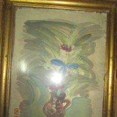 Arte: GRAN ACUARELA JARRON AÑOS 50 DETERIORADA PROCEDE DE ALICANTE GRANDES DIMENSIONES. Lote 226786250