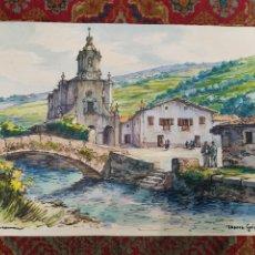 Arte: ACUARELA Y TÉCNICA MIXTA DE LÓPEZ RAMÓN. IBARRA ( GUIPÚZCOA) 1905-1983. Lote 226787610