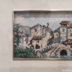 Arte: PEQUEÑA ACUARELA, PAISAJE RURAL, FIRMADA Y ENMARCADA 23,5 X 21 CM. Lote 227189115