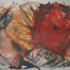 Arte: ACUARELA ABSTRACTA. FIRMADA CRISTINA PIQUER. 32 X 49,5 CM. Lote 227466885