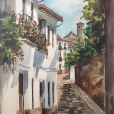 Arte: ACUARELA - FIRMADA - NICOLAS BERMÚDEZ. Lote 227668655