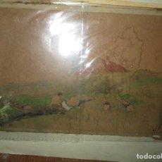 Arte: MOLINO CON CASERIO FRANCIA PINTURA A LA ACUARELA ANTIGUA IMPRESIONISTA FIRMADA . Lote 191937728