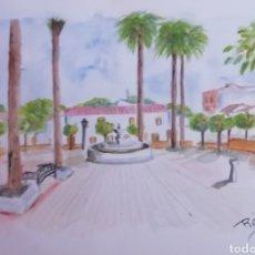 Arte: ACUARELA PLAZA SANTA MARIA MAGDALENA MENGIBAR. Lote 229409540