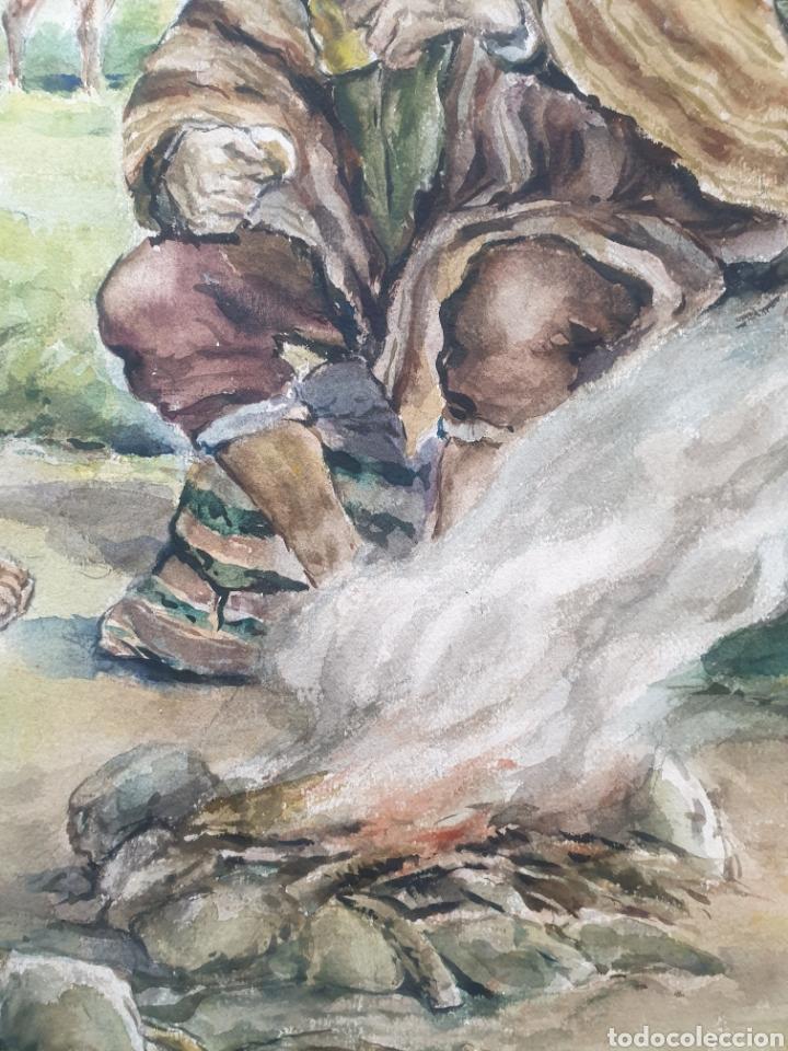 Arte: Xavier Tulla - Escena Costumbrista en los Andes Peruanos.Firmada.1969. - Foto 9 - 229586270