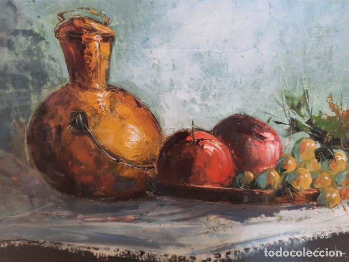 Arte: CUADRO BODEGON ACUARELAS SOBRE TABLERO 71 X 61 FIRMADO F. SEVILLA - Foto 2 - 93248620