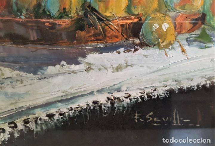 Arte: CUADRO BODEGON ACUARELAS SOBRE TABLERO 71 X 61 FIRMADO F. SEVILLA - Foto 3 - 93248620