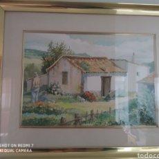 Arte: ACUARELA ALBERTO MANRIQUE DE LARA 50X40 SIN CONTAR MARCO. Lote 230359735