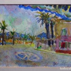 Art: ACUARELA DE JORDI SANTACANA 1999.FORNELLS (MENORCA).. Lote 230451365