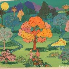 Arte: EL PARAÍSO DE ADAN Y EVA .PIERRE MONNERAT (SUIZA 1917-ESPAÑA 2005).POP ART. Lote 230512350