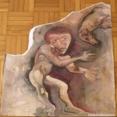 Arte: RAUL CAPITANI. ACUARELA Y TINTA. NIÑO Y PERRO. SIN FIRMAR. BUEN ESTADO. 51X51 CM.. Lote 230874540