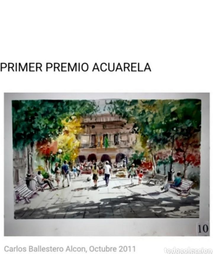 Arte: Carlos Ballestero Alcon (1942) - Santuario de la Salut,Sabadell.Acuarela.Firmada. - Foto 13 - 176410172