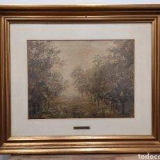Arte: MANUEL GARCÍA LARREA (1912-?) PAISAJE. FIRMADO Y ENMARCADO.58X48CM. Lote 231637625
